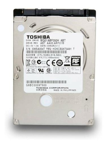 Toshiba Toshıba Mq01Abf050H, 2.5'' 500Gb + 8Gb Sshd, Hybrid Drive Renkli